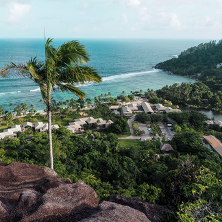 View over Kempinski resort Seychelles