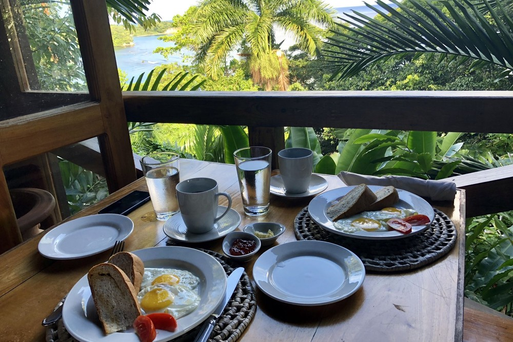 breakfast at Kanopi House Port Antonio Jamaica